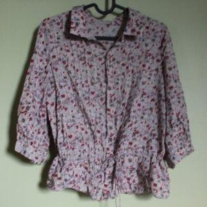 35 RPM floral boho blouse